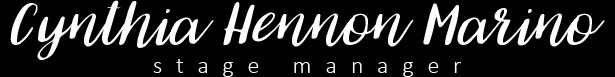 Cynthia Hennon Marino :: Stage Manager Logo